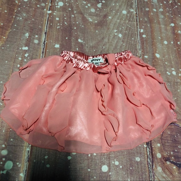 Dkny Other - DKNY Pink Tulle Bow Tie Stretchy Tutu Skirt